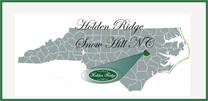 Image shows location of Holden Ridge Development in Snow Hill, NC